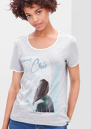 Fina majica z natisnjenim kolažem