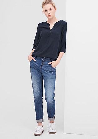 Fine blouse with an elasticated hem from s.Oliver