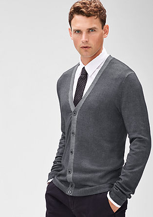 Fine cardigan in merino wool from s.Oliver