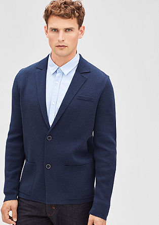 Fine cardigan in the style of a sports jacket from s.Oliver
