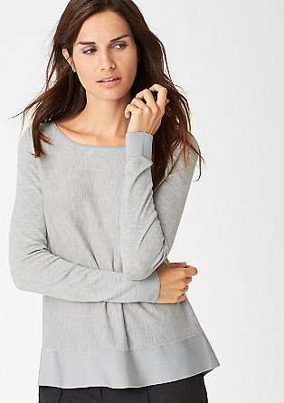 Fine fabric mix jumper from s.Oliver