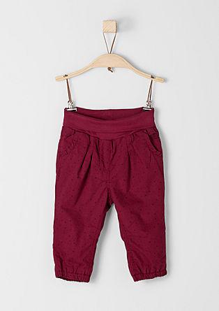 Fine hlače iz blaga s pikicami