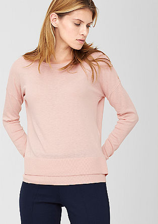Fine jumper with a layered hem from s.Oliver