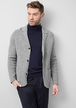 Fine knit cardigan in blended wool from s.Oliver