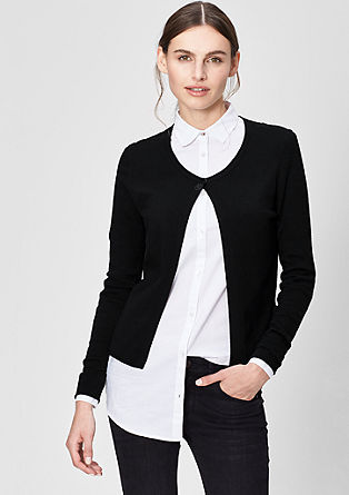 Fine knit cardigan with gemstones from s.Oliver