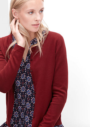 Fine knit cotton cardigan from s.Oliver
