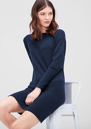 Fine knit dress with cashmere from s.Oliver