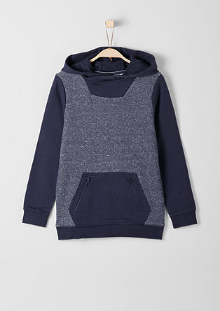 Fine knit hoodie with a kangaroo pocket from s.Oliver