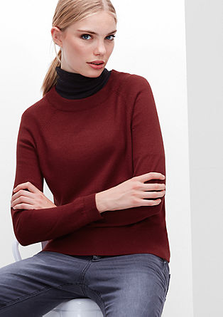 Fine knit jumper in a wool blend from s.Oliver