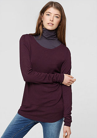 Fine knit jumper in blended viscose from s.Oliver