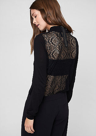 Fine knit jumper with a lace back from s.Oliver