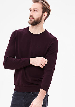 Fine knit jumper with a round neckline from s.Oliver