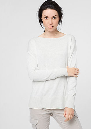 Fine knit jumper with wide cuffs and hem from s.Oliver