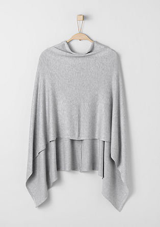 Fine knit poncho from s.Oliver