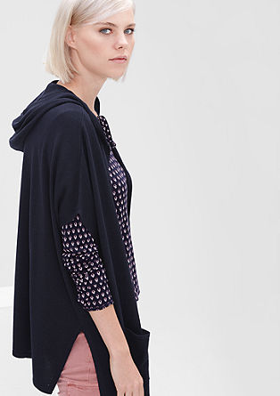 Fine knit poncho with a hood from s.Oliver