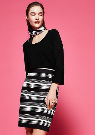 Fine knit striped jumper from s.Oliver