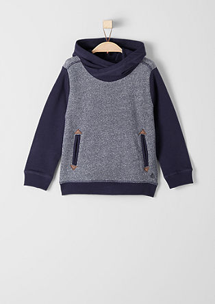 Fine knit sweatshirt with a hood from s.Oliver
