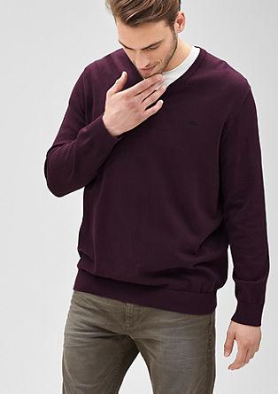 Fine knit V-neck jumper from s.Oliver