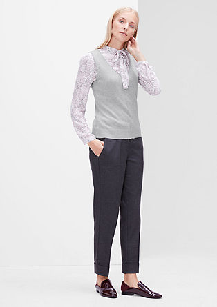 Fine knit vest with a V-neckline from s.Oliver