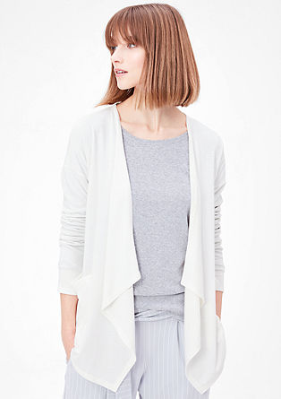 Fine loungewear sweatshirt jacket from s.Oliver
