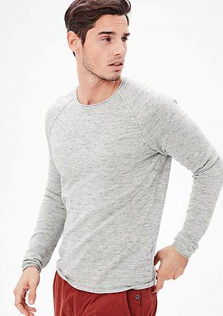 Fine melange cotton jumper from s.Oliver
