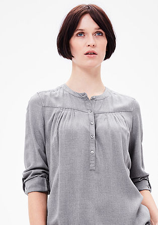 Fine melange flannel tunic from s.Oliver