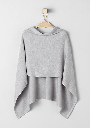 Fine mullet-style poncho from s.Oliver