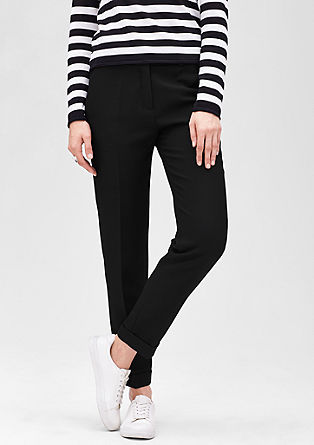 Fine piqué trousers from s.Oliver