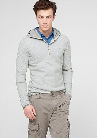 Fine striped hooded top from s.Oliver