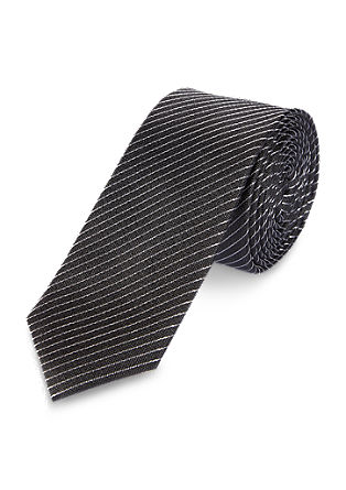 Fine striped silk tie from s.Oliver