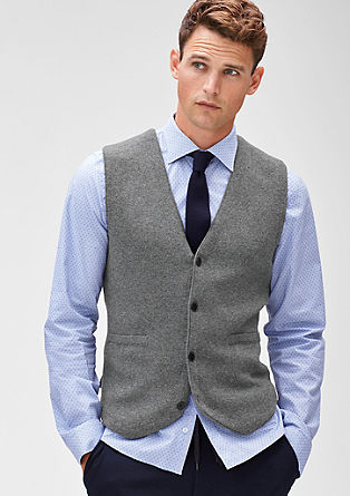 Finely mottled knitted waistcoat from s.Oliver