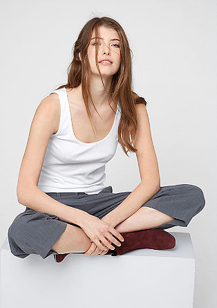 Finely ribbed, sleeveless top from s.Oliver