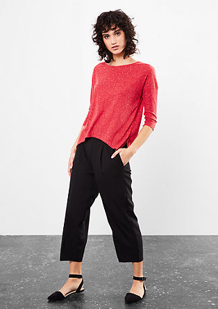Finely ribbed top with 3/4-length sleeves from s.Oliver