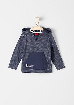 Finely striped hooded top from s.Oliver