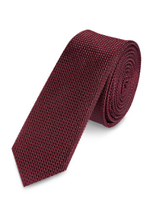 Finely textured silk tie from s.Oliver