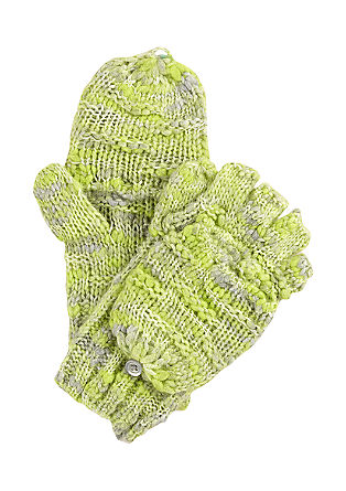 Fingerless gloves with a flap from s.Oliver