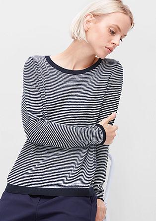 Fino pleten črtast pulover