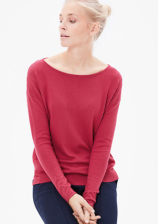 Fino pleten pulover z volno