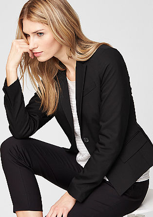 Fitted stretch blazer from s.Oliver