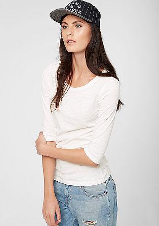 Flammgarn-Shirt mit 3/4-Arm