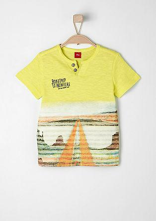 Flammgarn-Shirt mit Fotoprint