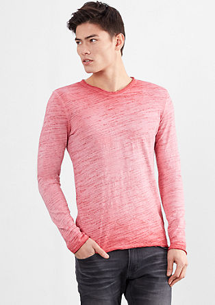 Flammgarnshirt in Cole Pigment Dye