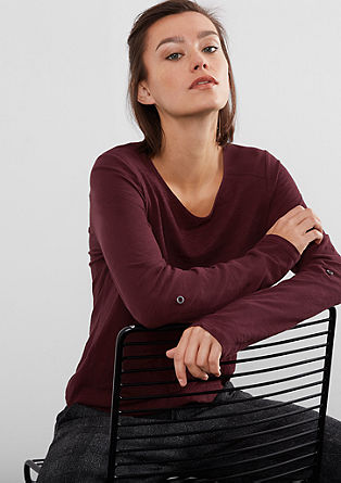 Flammgarnshirt mit Blusen-Detail