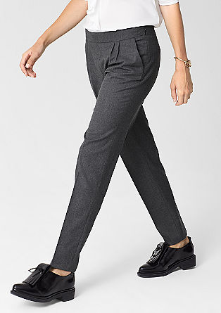 Flannel business trousers from s.Oliver