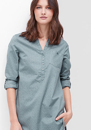 Flannel-look long blouse from s.Oliver