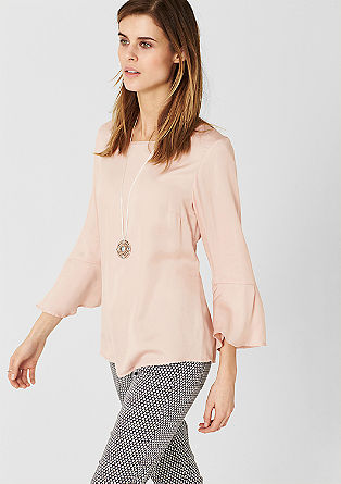 Flared satin blouse from s.Oliver