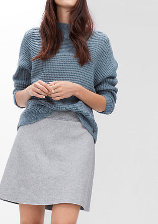 Flared skirt in blended wool from s.Oliver