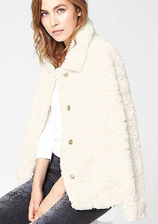 Flauschige Fake Fur-Jacke