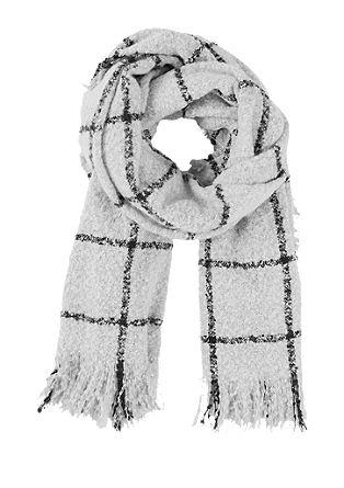 Flauschiger Schal mit Karos