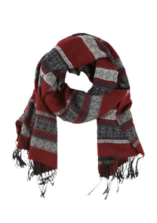 Flauschiger Schal mit Webmuster